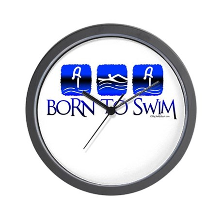 BORN TO SWIM Wall Clock