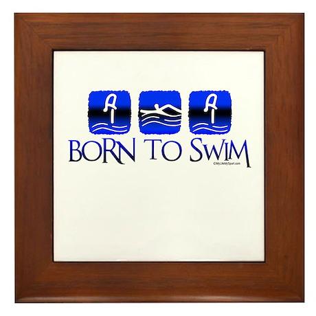 BORN TO SWIM Framed Tile