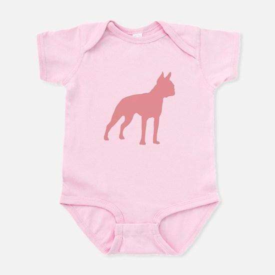 Boston Terrier Retro Pink Infant Bodysuit