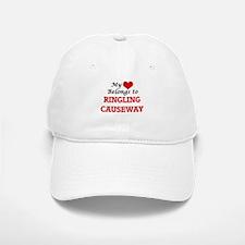 My Heart Belongs to Ringling Causeway Florida Baseball Baseball Cap