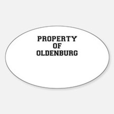Property of OLDENBURG Decal