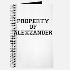Property of ALEXZANDER Journal