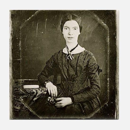 Emily Dickinson Tile Coaster