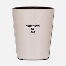 Property of BAE Shot Glass