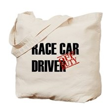 Off Duty Race Car Driver Tote Bag