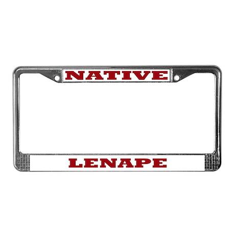 Lenape Native License Plate Frame