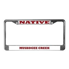 Muskogee Creek Native License Plate Frame