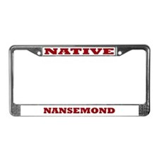 Nansemond Native License Plate Frame