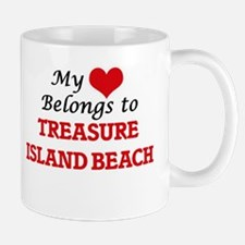 My Heart Belongs to Treasure Island Beach Flo Mugs