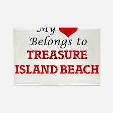 My Heart Belongs to Treasure Island Beach Magnets