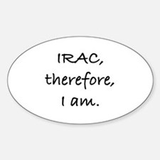 IRAC Oval Decal