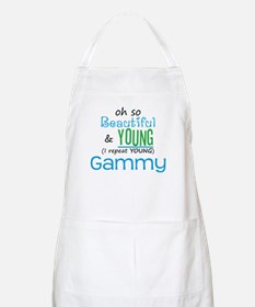 Beautiful and Young Gammy BBQ Apron