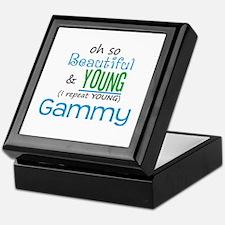 Beautiful and Young Gammy Keepsake Box