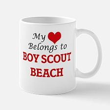 My Heart Belongs to Boy Scout Beach Maryland Mugs