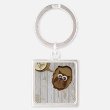 Cute Apple cider Square Keychain