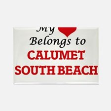 My Heart Belongs to Calumet South Beach Il Magnets