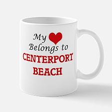 My Heart Belongs to Centerport Beach New York Mugs