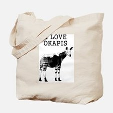 I Love Okapis Tote Bag