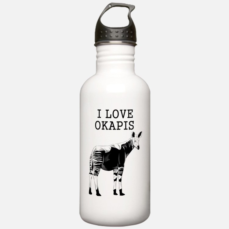 I Love Okapis Sports Water Bottle