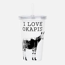 I Love Okapis Acrylic Double-wall Tumbler