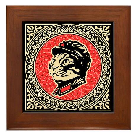 Chairman Meow - Propaganda Framed Tile