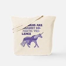 Unicorns Are Against Domestic Violence Tote Bag