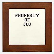 Property of JLO Framed Tile