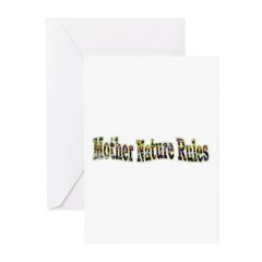 Mother Nature Rules Greeting Cards (Pk of 10)