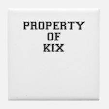 Property of KIX Tile Coaster