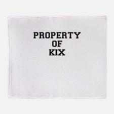 Property of KIX Throw Blanket
