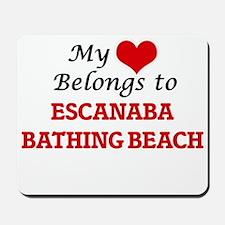 My Heart Belongs to Escanaba Bathing Bea Mousepad