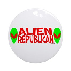 Alien Republican Ornament (Round)