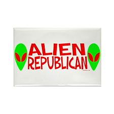Alien Republican Rectangle Magnet