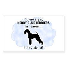 Kerry Blue Terriers In Heaven Sticker (Rectangular
