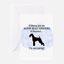 Kerry Blue Terriers In Heaven Greeting Card