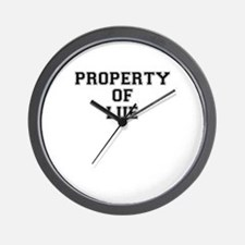 Property of LUE Wall Clock