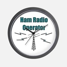 Ham Radio Operator Wall Clock