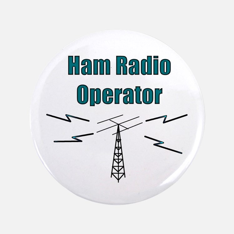"Ham Radio Operator 3.5"" Button"