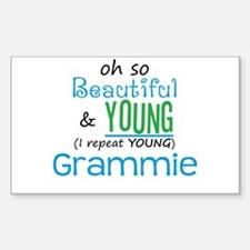 Beautiful and Young Grammie Rectangle Decal