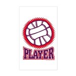 VOLLEYBALL PLAYER Rectangle Sticker