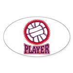 VOLLEYBALL PLAYER Oval Sticker