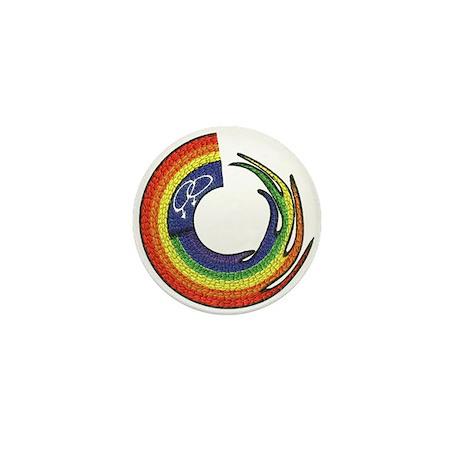 LESBIAN PRIDE DESIGN2.BRICK Mini Button
