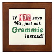 Just Ask Grammie! Framed Tile