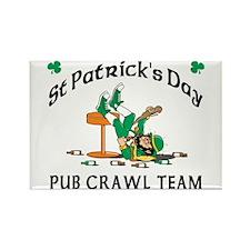 Irish Pub Crawl Team Rectangle Magnet