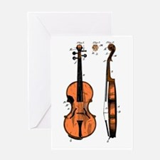 Fiddle Patent Greeting Card
