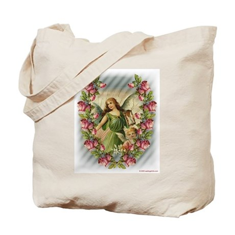 Angels and Roses Tote Bag