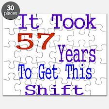 It Took 57 Years Birthday Designs Puzzle