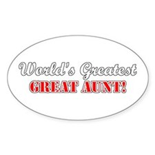 World's Greatest Great Aunt Oval Decal