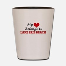 My Heart Belongs to Lake Erie Beach New Shot Glass