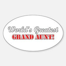 World's Greatest Grand Aunt Oval Decal